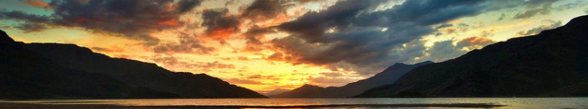 Sunset at Loch Hourne