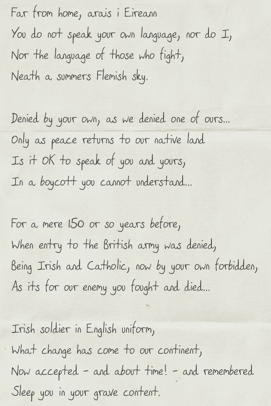 Letter To An Unknown Soldier Writings In Rhyme